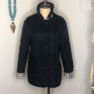 Authentic Burberry Nova Check Quilted Jacket Coat